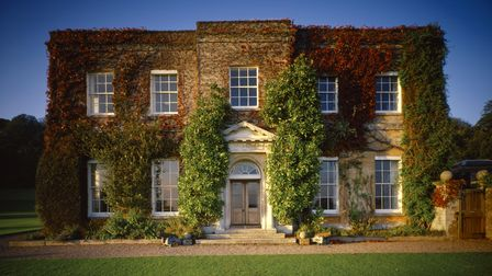 View of the South Front of Killerton House in Devon.