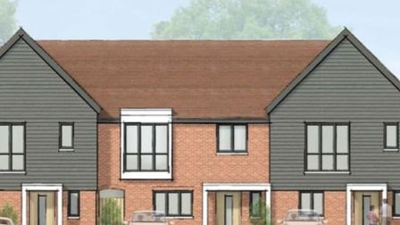 Artist's impression of what the proposed housing development at The Bell in Codicote will look like