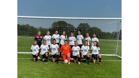 All smiles for Weston Ladies AFC as they pose for the camera.