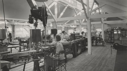 Filling mustard jars at the Colman's factory in 1940. Picture: Colman's/Unilever
