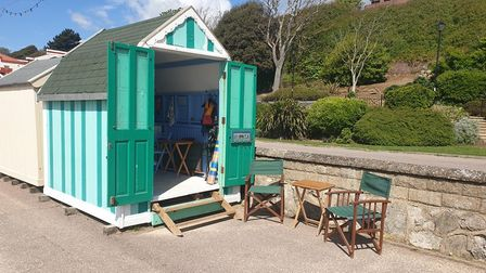 This beach hut near the Spa Pavilion has a guide price of £49,000 from Diamond Mills