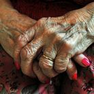 File photo dated 05/12/08 of the hands of a resident at a nursing home as there has been a steep ris