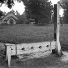 A view of the stocks in the villiage of Havering.