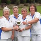 Letchworth ladies celebrate winning the County Bowls (North Division) Club League.