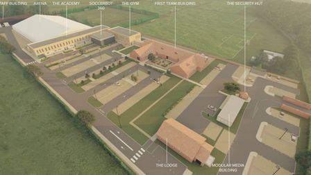 CGI view of what the Lotus Training Ground could look like in the next phase of its revamp