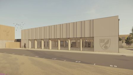 CGI of what the recovery hub could look like at the Lotus Training Ground