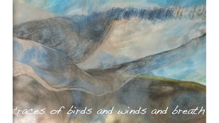 Helen Wells, Traces of Birds and Wind and Breath, in theAfter the Storm? exhibitiononat St Stephen's church in Norwich.