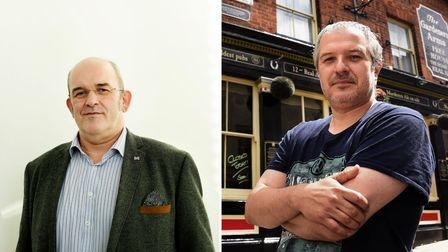 Stefan Gurney, head of Norwich BID, and Phil Cutter, of The Murderers, reacted to the firebreak reports.