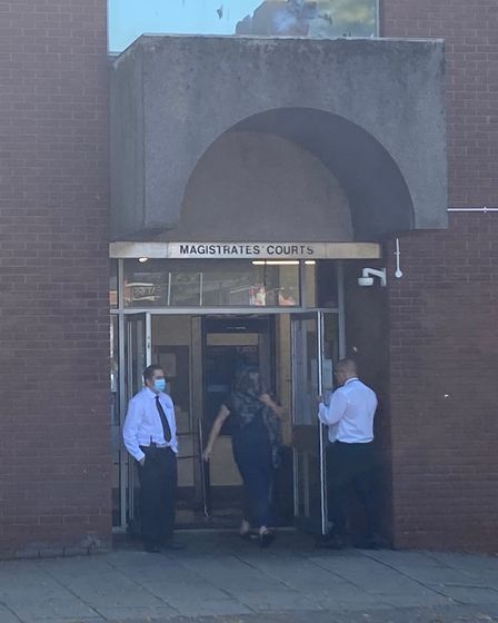 Maria Lee leaving Suffolk Magistrates' Court
