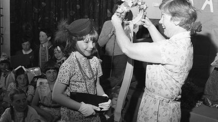 Hethersett Middle School Fete Queen, 1980. Picture: Archant Library