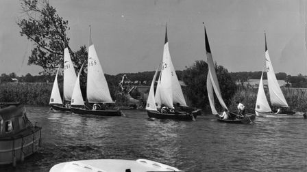 Archives - Sailing. Pictured: Eaton (CNS) School helmsmen, who are proving vitually unbeatable again