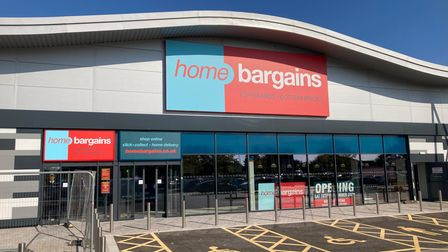 Home Bargains in Worle's Queensway District Centre.