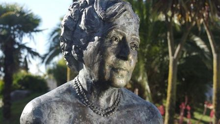 The Agatha Christie bust on Cary Green.