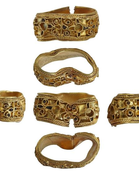 Norfolk Coroner's Court ruled the late Saxon gold strip with gem and glass settings as treasure. Pic