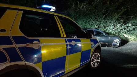 Cambridgeshire Police arrested the driver of a BMW last night and seized his car.