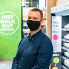 Paul Duke, store manager of Hackney's first Amazon Fresh store.