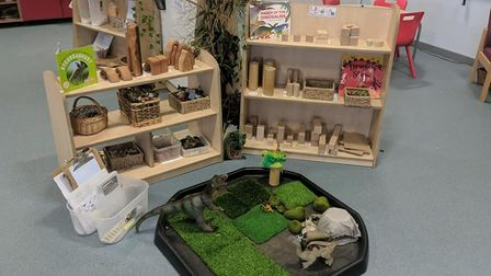 Kate Pantry's interactive classroom, ready for learning through play