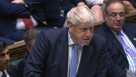 Prime Minister Boris Johnson speaks during Prime Minister's Questions in the House of Commons, Londo