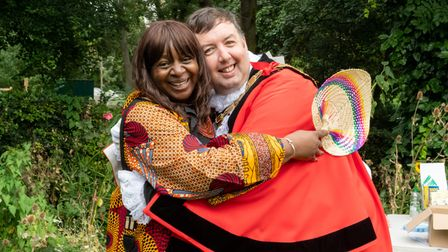 Islington's mayor Troy Gallagher joined participants at the Elthorne Pride world food festival