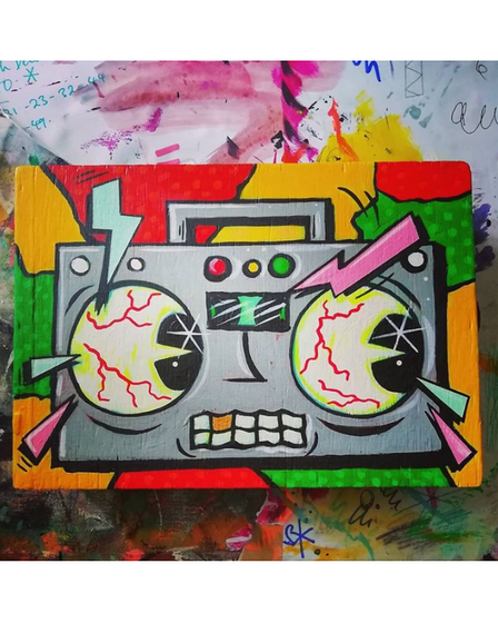 Doom Box by Vinnie Nylon will feature in the Vibrant Punk Art exhibition in Ipswich