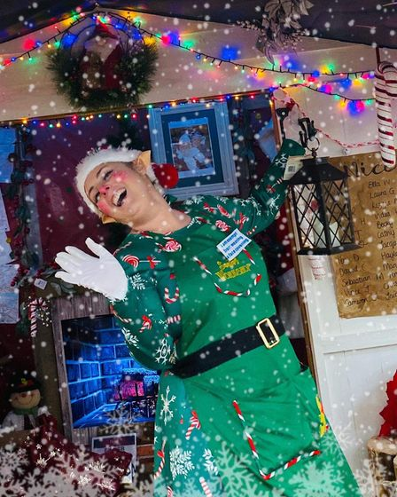 Elizabeth Marlow as Santa's Elf 'Tinsel Toes' during the centres 2020 experience