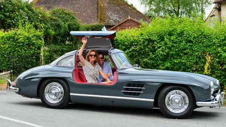 Participants at the 2019 Hope Classic Rally in their stunning Mercedes 300 SL Gullwing