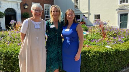 Former chairs of the NorwichBusiness Women's Network, Carole Slaughter and Jeanette Wheeler with chair Hazel Bowen.