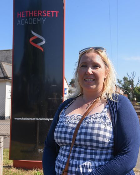 Alison Pettitt is one of the parents angry at the new rules imposed at Hethersett Academy. Picture: