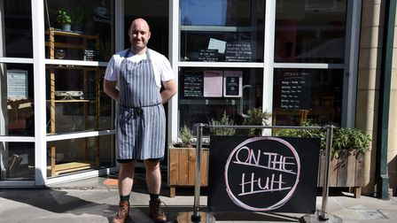 Richard Podd of On The Huh cafe in Ipswich Picture: CHARLOTTE BOND