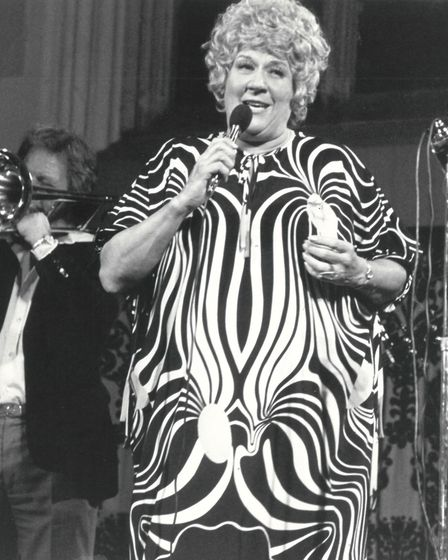Beryl Bryden at a Blackfriars Hall concert in Norwich on 26 June 1978