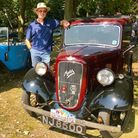 A picture of a man, Peter Lawson, with an Austin Seven in Saffron Walden. Picture: Will Durrant