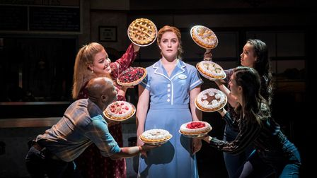 Lucie Jones and cast in Waitress