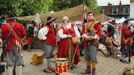 A previous Living History event on St Neots Market Square