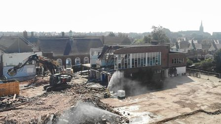 Deben High School in Felixstowe is being demolished for housing and sports facilities