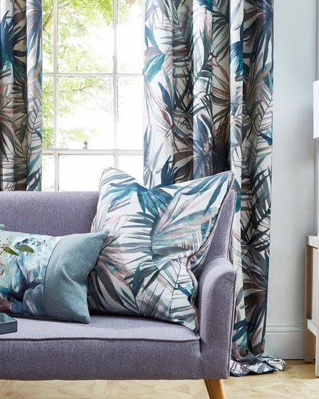 Bold print fabrics with tropical designs from Just Fabrics in the Cotswolds