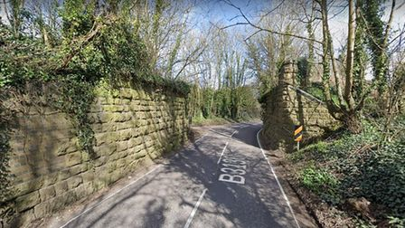 Proposed site of the Strawberry Line extension over the B3136 West Shepton in Shepton Mallet - Google Maps - 070921 (1)