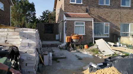 """How the house is left now and has been for months. Ms Mileham said it is a """"constant bugbear"""" for he"""