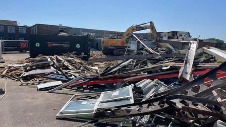 The demolition project started in July