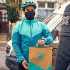 ADeliveroo delivery driver