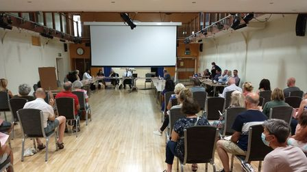 Inside the Envar Q and A session held in the St Ives Town Hall yesterday September 8.