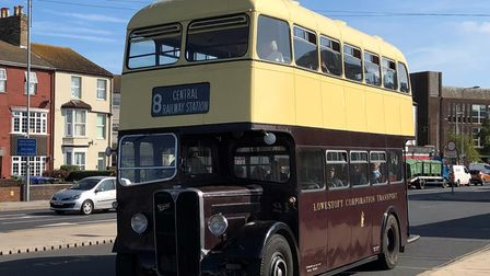 A vintage bus from the East Anglia Transport Museum.