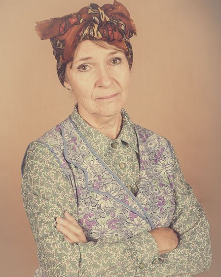 Mary Powell as Liz in the Barn Theatre production ofHappyJack.