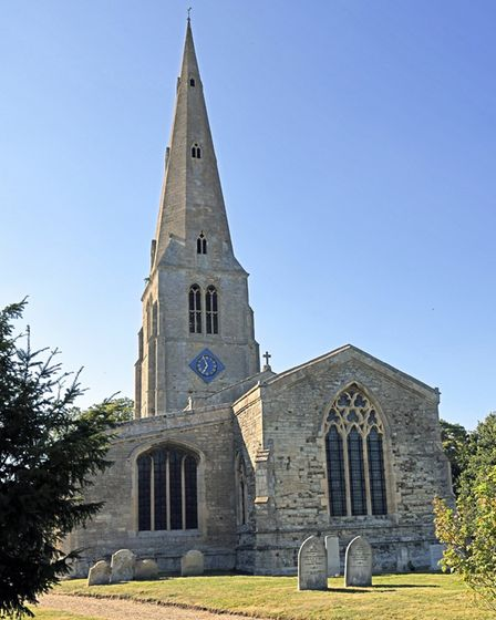 St James Church in Spaldwich has the tallest spire in Huntingdonshire.