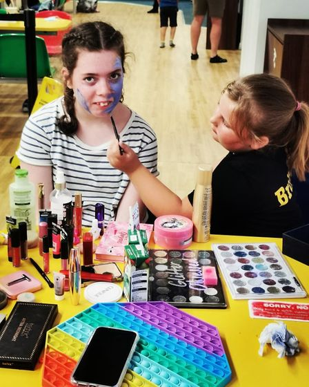 Brooke, the mini SEN make-up artist and young carer