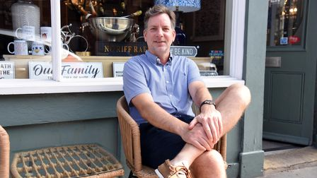 John Manning celebrates 10 years of his furniture shop House in the town in St Peters Street PICTUR