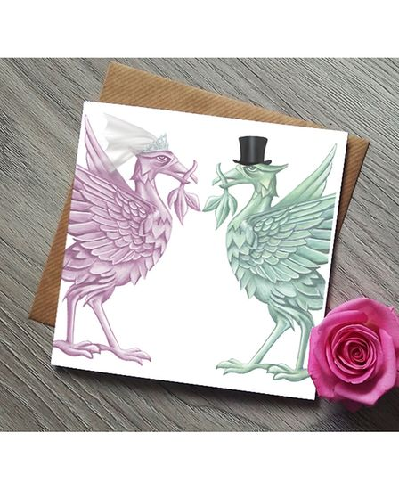 Rebecca's first design was her rendering of Liverpool's iconic liver birds, an ongoing bestseller in various forms