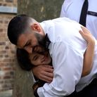 Noura and PC Ahmet Mavitunali, one of the officers who saved her life