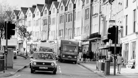 Norwich Streets -- PPrince of Wales RoadDated -- 4 November 1988Photograph -- C4312