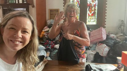 Donations of items for Afghan refugees were collated at St Saviour's Church in St Albans.