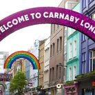 The new rainbow installation in Carnaby Street